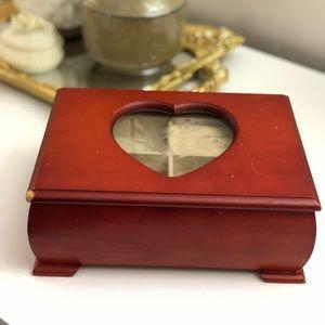 VINTAGE  Wooden Jewellery Box Y2K
